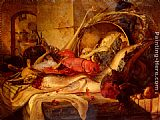 Theude Gronland A Still Life With Lobster And Game painting