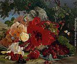 Theude Gronland Arrangement of Roses painting