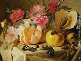 Theude Gronland Still life with autumn fruits painting