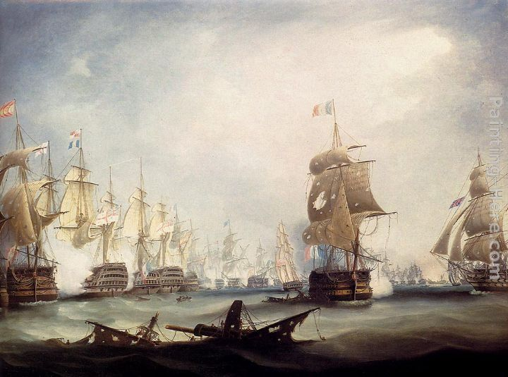 Thomas Buttersworth The Battle Of Trafalgar, 1805