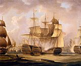 Thomas Buttersworth The Battle Of Cape St. Vincent, February 14, 1797, The San Nicolas And The San Josef painting