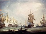 Thomas Buttersworth The Battle Of Trafalgar, 1805 painting