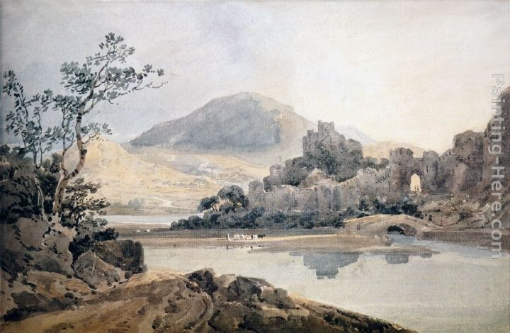 Thomas Girtin Castle Conway (after Sir George Beaumont)