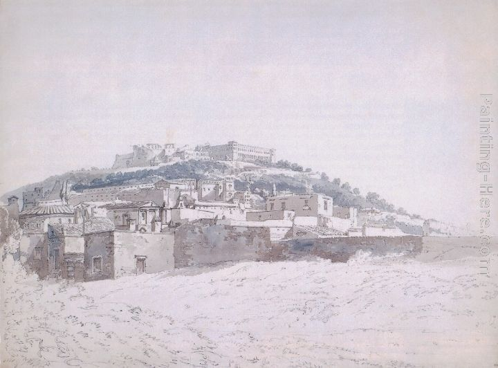 Thomas Girtin View of Monte Casino (after J.R.Cozens)