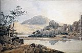 Thomas Girtin Castle Conway (after Sir George Beaumont) painting