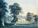 Thomas Girtin Chalfont House, Buckinghamshire, with a Shepherdess painting