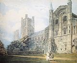 Thomas Girtin Ely Cathedral from the South-East (after James Moore) painting