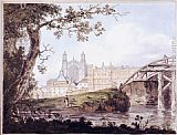 Thomas Girtin Eton College from Datchet Road painting