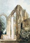 Thomas Girtin Interior of Fountains Abbey the East Window painting