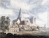 Thomas Girtin Rochester Cathedral and Castle, from the North-East painting