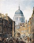 Thomas Girtin St Paul's Cathedral from St Martin's-le-Grand painting