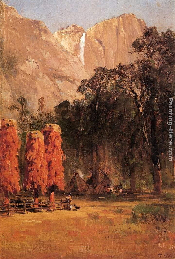 Thomas Hill Indian Camp, Yosemite