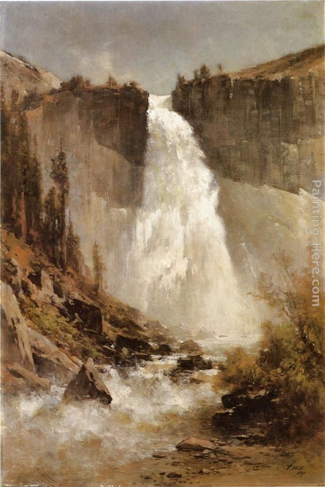Thomas Hill The Falls of Yosemite