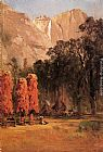 Thomas Hill Indian Camp, Yosemite painting