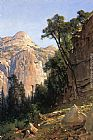 Thomas Hill North Dome, Yosemite Valley painting