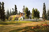 Thomas Hill Sisson's Inn, near Mount Shasta painting