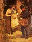 Thomas Liddall Armitage The Postman painting
