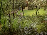 Thomas Matthews Rooke A London Garden painting