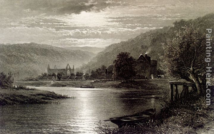 Thomas Sidney Cooper Tintern Abbey, Moonlight On The Wye