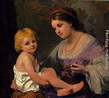 Thomas Webster Maternal Affection painting