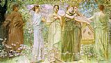 Thomas Wilmer Dewing The Days painting