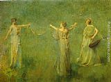 Thomas Wilmer Dewing The Garland painting