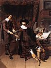 Thomas de Keyser Constantijn Huygens and his Clerk painting