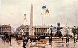Ulpiano Checa y Sanz A View of the Place de la Concorde painting