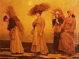 Valentine Cameron Prinsep Home From Gleaning painting