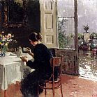 Vincenzo Irolli At The Window painting