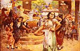 Vincenzo Irolli The Village Fair painting