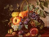 Virginie de Sartorius A Still Life With A Basket Of Fruit painting
