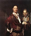 Vittore Ghislandi Portrait of Giovanni Secco Suardo and his Servant painting