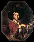 Vittore Ghislandi Portrait of a Young Man painting