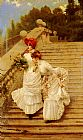 Vittorio Matteo Corcos The Rendezvous painting