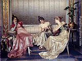 Vittorio Reggianini Elegant Figures In An Interior painting
