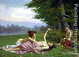 Vittorio Reggianini Tempting Cupid painting