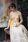 Vlaho Bukovac In the Bath painting