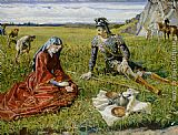 Walter Crane Ruth and Boaz painting