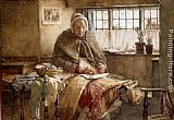 Walter Langley At Evening Time It Shall Be Light painting