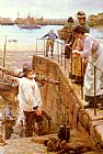 Walter Langley Between The Tides painting
