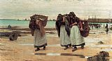 Walter Langley The Breadwinners painting