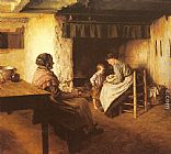 Walter Langley The New Arrival painting