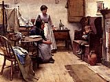 Walter Langley The Orphan painting