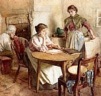 Walter Langley Thoughts Far Away painting