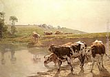 Wenceslas Vacslav Brozik Cattle In A Pasture painting