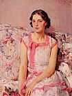 Wilfred Gabriel de Glehn Portrait of Clare Collins painting