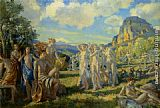 Wilfred Gabriel de Glehn The Poet Accompanied by Some of the Muses Finds Inspiration in Nature painting