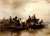Wilhelm Alexander Meyerheim The Arrival of the Ferry painting
