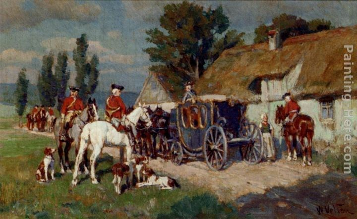 Wilhelm Velten A Hunting Party Ready For The Off